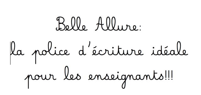 Police d'écriture Belle Allure